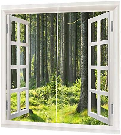 QinKingstore ファッション遮光カーテンパネルウィンドウスクリーンウィンドウドレープ150 * 166センチエレガントなリビングルームの寝室の装飾カーテン