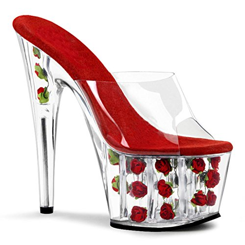 party cool nozze Estiva crystal per Europea sandali tacchi di alti nuova ciabatte clear banchetti Pink YMFIE moda tacchi crystal 4HCRw7xqw