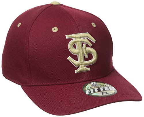 NCAA Florida State Seminoles Men's DH Fitted Cap, Cardinal, Size 7 1/4 (Cap Fsu)