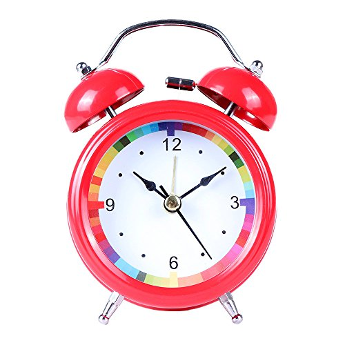 - Classic Simple Metal Shell Two-Way Bell Alarm Clock Home Decoration