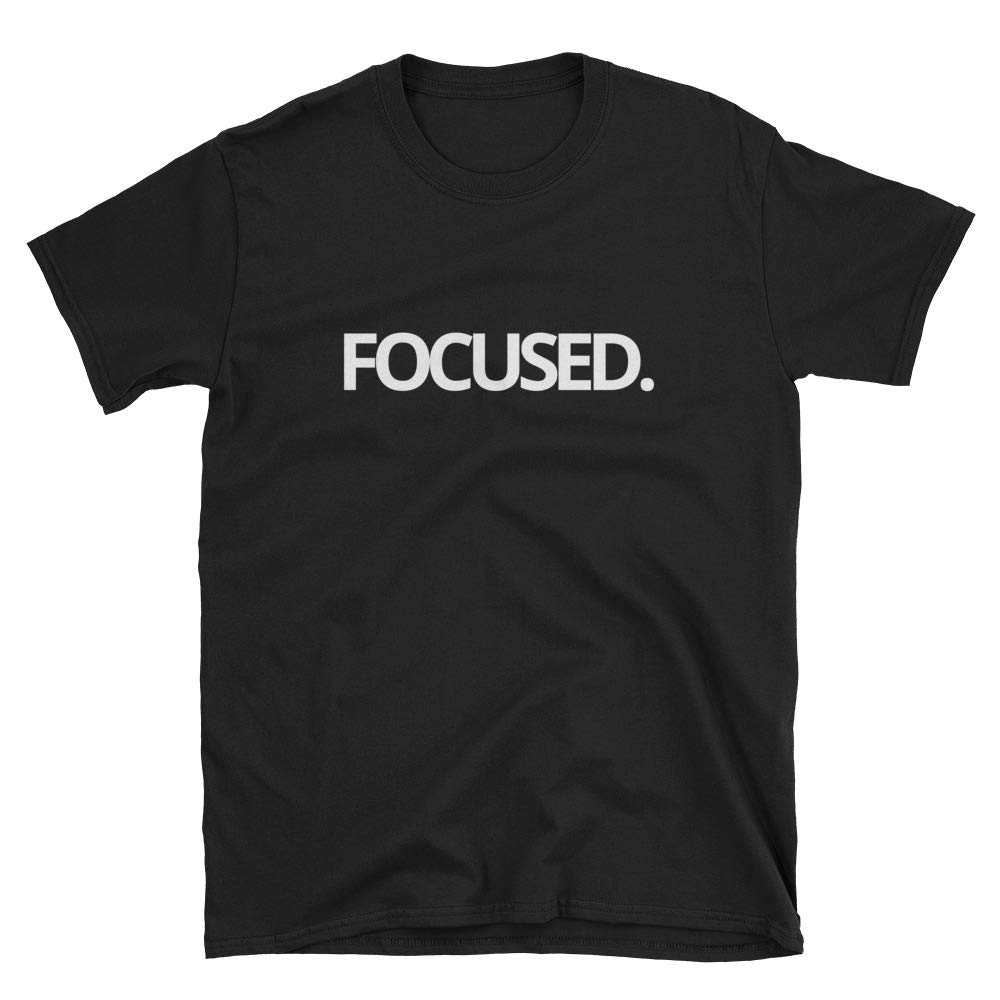 Focusing On Me Focused White Type Tee Black or Navy