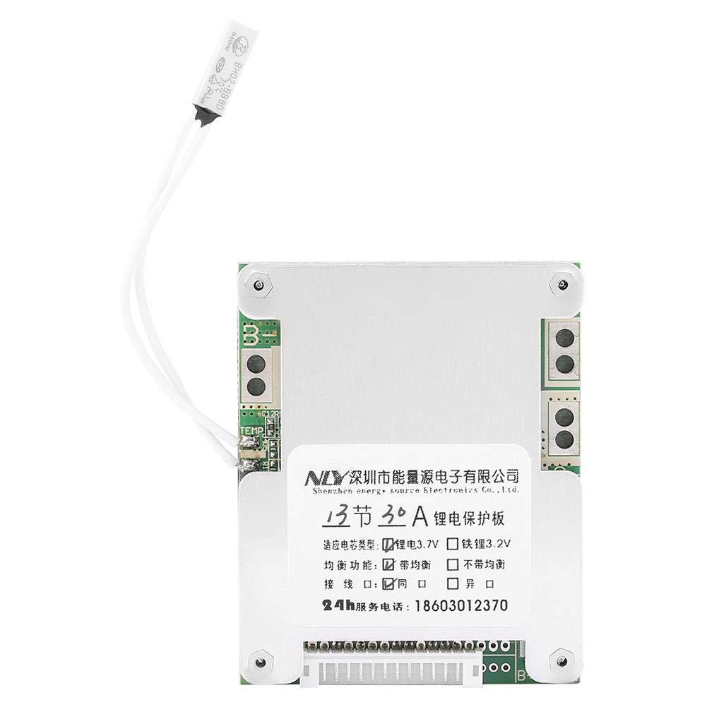 Carte de Protection de Batterie au Lithium, Keenso Panneau de Protection de Batterie Carte de Protection de Charge de Batterie13S 30A IC BMS avec Charge Equilibrée