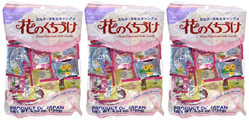 Kasugai Japanese Candy, Hana No Kuchizuke Flower Kiss, 4.54 -Ounce Bags (Pack of 3)]()