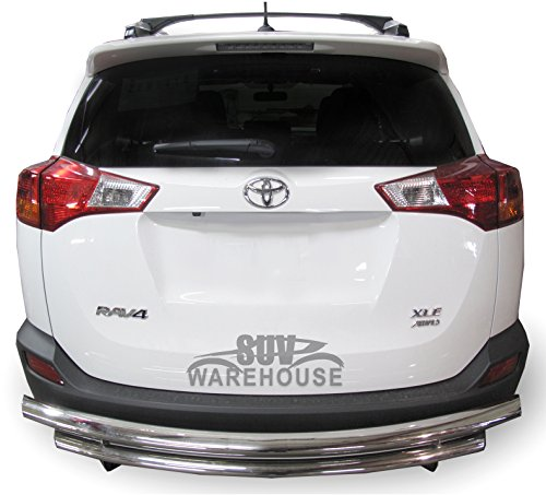 Wynntech Rear Bumper Guard for Toyota Rav4 – 2017 to 2018- Stainless Steel Double Layer