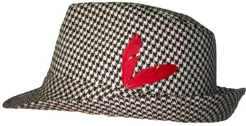 Houndstooth Fedora Large