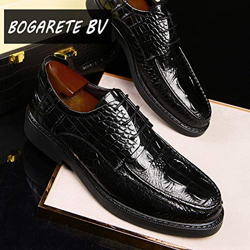 noir  LOVDRAM Chaussures en Cuir pour Hommes Autumn and Winter Hommes's chaussures Crocodile Pattern cuir chaussures Hommes's Décontracté chaussures Robe mode chaussures
