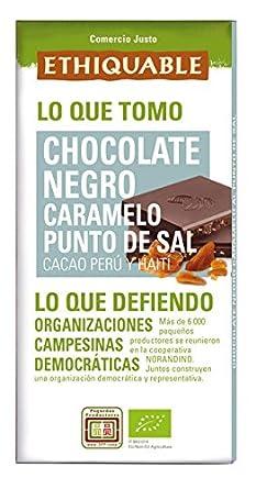Ethiquable Chocolate Negro Caramelizado Punto de Sal Bio - 100 gr: Amazon.es: Alimentación y bebidas