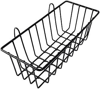 ZONYEO malla de la cesta gancho de alambre accesorios del panel de rejilla pared multifunci/ón de metal montados canasta b