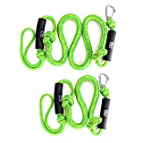 Obcursco PWC Bungee Dock Line Anchor Line Stretchable for Kayak, Boat, Marine, Sets of Two(4ft & 6ft) with Foam Float and 316 Stainless Steel Clip