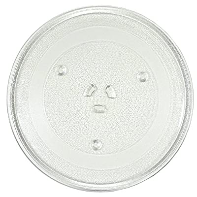 HQRP 11-1/4 inch Glass Turntable Tray for West Bend 3517203500 EM925A Microwave Oven Cooking Plate + HQRP Coaster