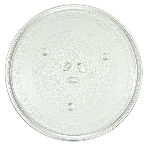HQRP 11-1/4 inch Glass Turntable Tray for Magic Chef 203500 MCO160UW MCO165UB MCO165UW MCP13E1ST MCT9E1ST L04 Microwave Oven Cooking Plate + HQRP Coaster by HQRP