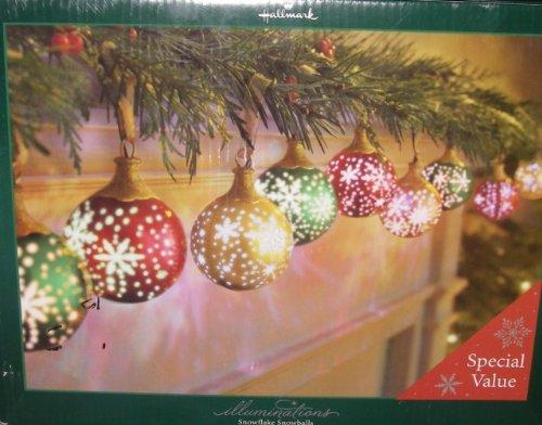 Ornament Snowball Christmas (Illuminations Snowflake Snowballs 9 Ornaments)