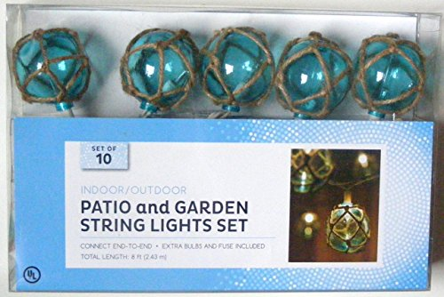 Blue Nautical String Lights : Nantucket Nautical Blue Buoy Float Patio and Garden String Light Set Tools & Home Improvement ...