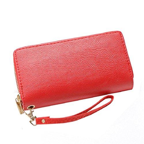 PU Phone Leather Lady Fashion Wallet Purse Card D Bag Clutch Women Handbag DBHAWK Bag Holder Red Long AIwO4q