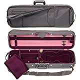 Bobelock Hill Style 1017 Semi-French Fitted Black/Wine 4/4 Violin Case
