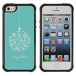 Fuerte Suave TPU GEL Caso Carcasa de Protección Funda para Apple Iphone 5 / 5S / Business Style Merry Christmas Holidays Winter