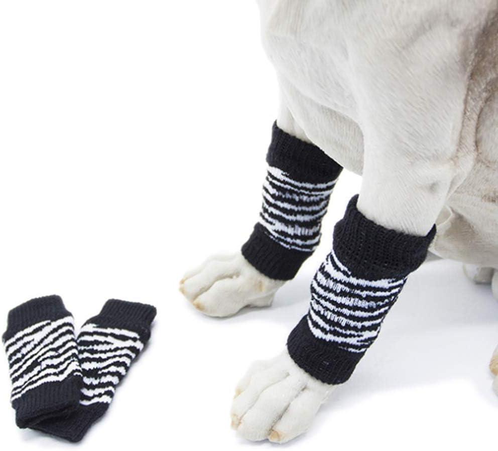 JUHUIZHE 4pcs Dog Leg Brace Shockproof Knee Dog Knee Protector Soft Comfortable Dog Leg Warmers Socks