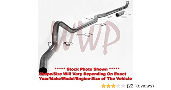 """17-19 FORD 6.7L DIESEL MBRP dpf delete 4/"""" COMPETITION RACE PIPE WITH MUFFLER."""