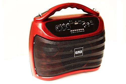 EMB PKX5BT 300W Portable Rechargeable Boom Box Speaker - Red