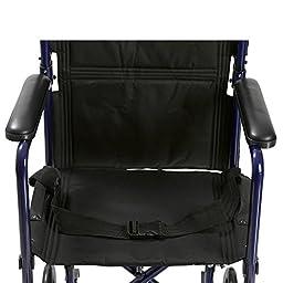 Drive Medical Deluxe Lightweight Aluminum Transport Wheelchair, Blue, 17\
