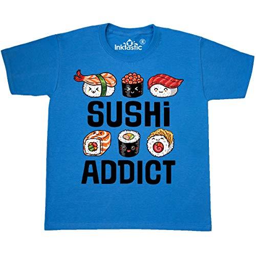 inktastic - Sushi Addict Youth T-Shirt Youth Medium (10-12) Pacific Blue 364f8