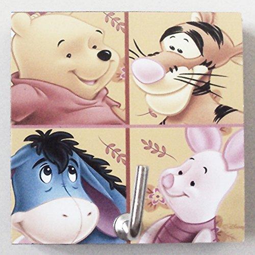 Agility Bathroom Wall Hanger Hat Bag Key Adhesive Wood Hook Vintage Winnie the Pooh & Friends's (Pooh Key)