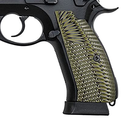 Guuun CZ 75 SP-01 Grips Full Size SP-01 Shadow Tactical CZ Grips, Eagle Wing Texture G10 Pistol Grips, Follow the Curvature of the Frame Perfect in fit from Guuun