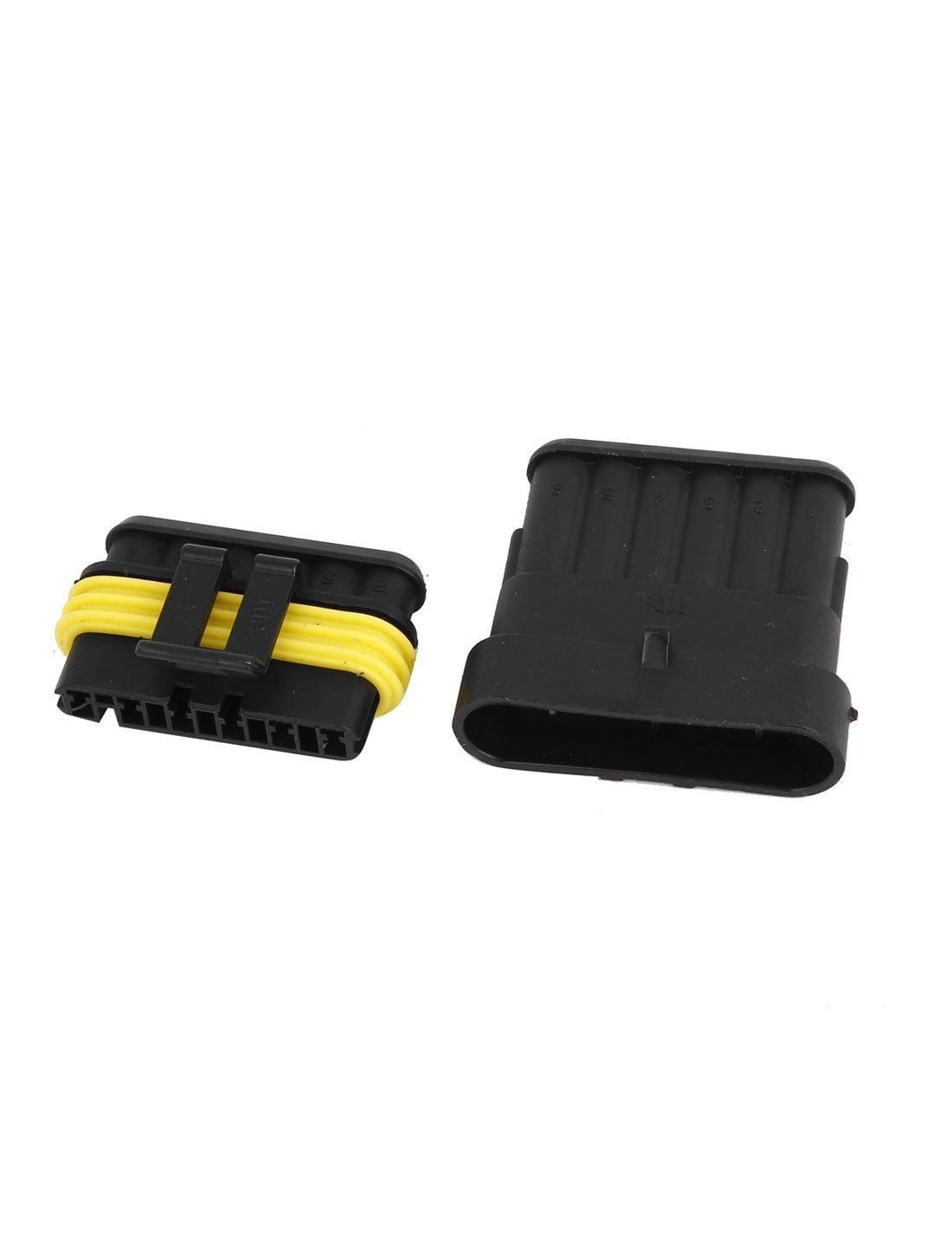 Amazon.com: eDealMax impermeable RV 6 Pin 6 vías Conector coche del Barco del carro ATV UTV: Electronics