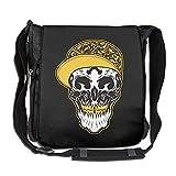 Pirate Skull Hip-hop Fashion Print Diagonal Single Shoulder Bag