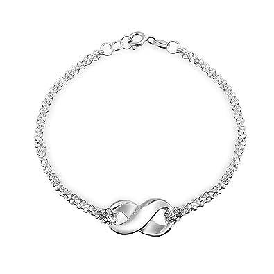 Bling Jewelry Figure 8 Sterling Silver Infinity Bracelet 7.5 Inch 4nqV4