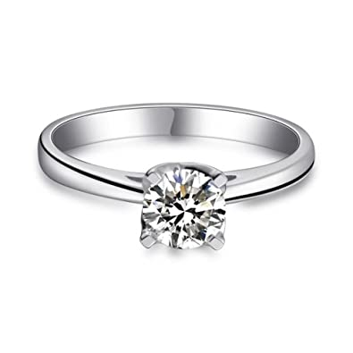Damenring 925 Sterling Silber Zirkonia Ring Damen Verlobungsring Schmuck Jewelry & Watches Fine Jewelry