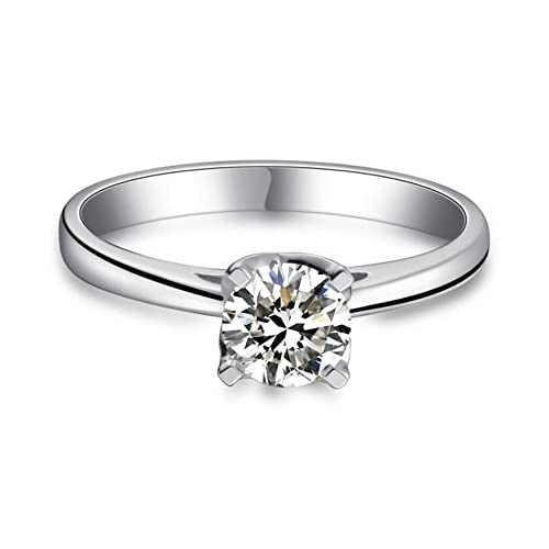 925 Sterling Silber Zirkonia Damen Ring Verlobungsring Schmuck Grosse