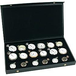 Pocket Watch Display Case Storage Box For 18 Watches