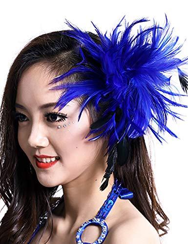 ShiyiUP Masquerade Ball Headwear Belly Dance Feathered Headgear