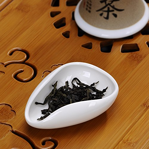 Funnytoday365 White Porcelain Cha He Tea Presentation Vessel Kung Fu Tea Accessories
