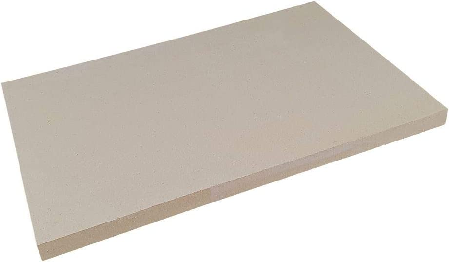 PUR Schamotte Schamottplatte 600 x 400 x 30 mm 2 Platten f/ür Kamin Ofen Grill I Schamottstein Lebensmittelecht
