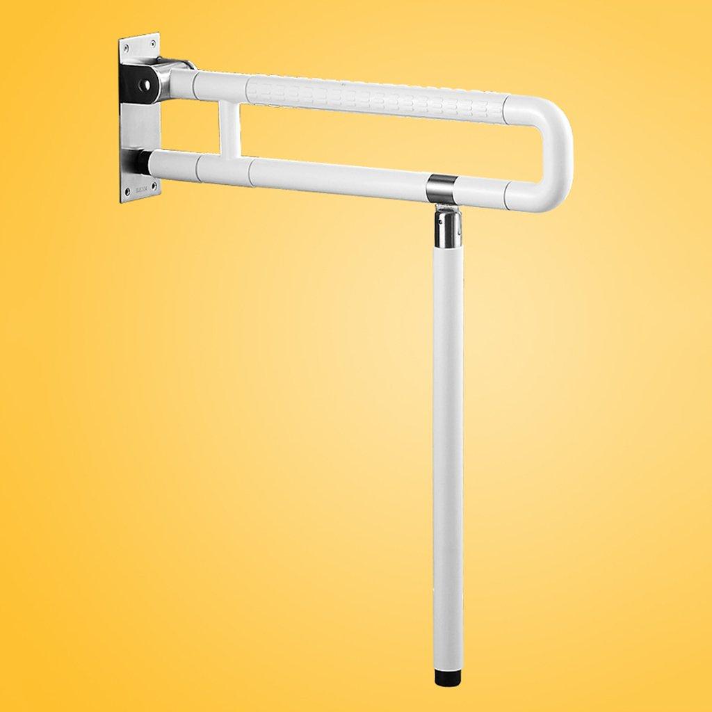 WSSF- 手すり ステンレス製のバスルームアームレスト折りたたみ式高齢者用バリアフリーバスタブシャワートイレ手すり安全で信頼できる手すり色、サイズオプション (色 : 白, サイズ さいず : 60*71.5cm) B07B7JGS82 60*71.5cm|白 白 60*71.5cm