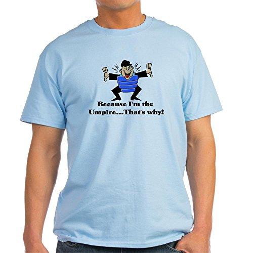 CafePress Umpire 100% Cotton T-Shirt Light Blue ()