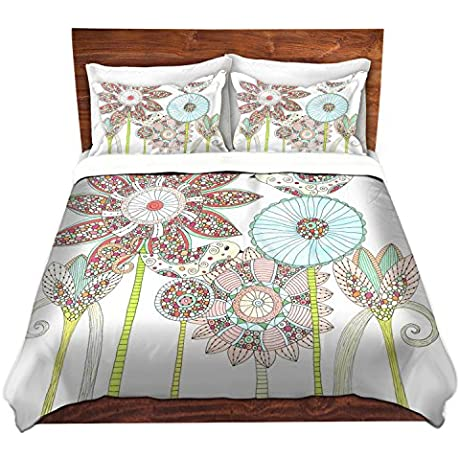 DiaNoche Designs Valerie Lorimer My Perfect Garden Brushed Twill Home Decor Bedding Cover 8 King Duvet Sham Set