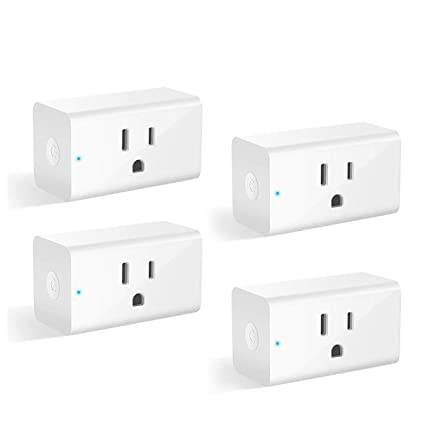 b8265c6654 Smart Plug Alexa Wifi Outlet Smart Plugs for Smart Home App Remote Control  Outlets (AC 110-125V/16A/1800W), No Hub Required Electrical Socket ...