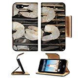 Liili Apple iPhone 5 iPhone 5S Pu Leather Flip Case Grill with grilled shrimp at a barbecue iPhone5 Image ID 22119846