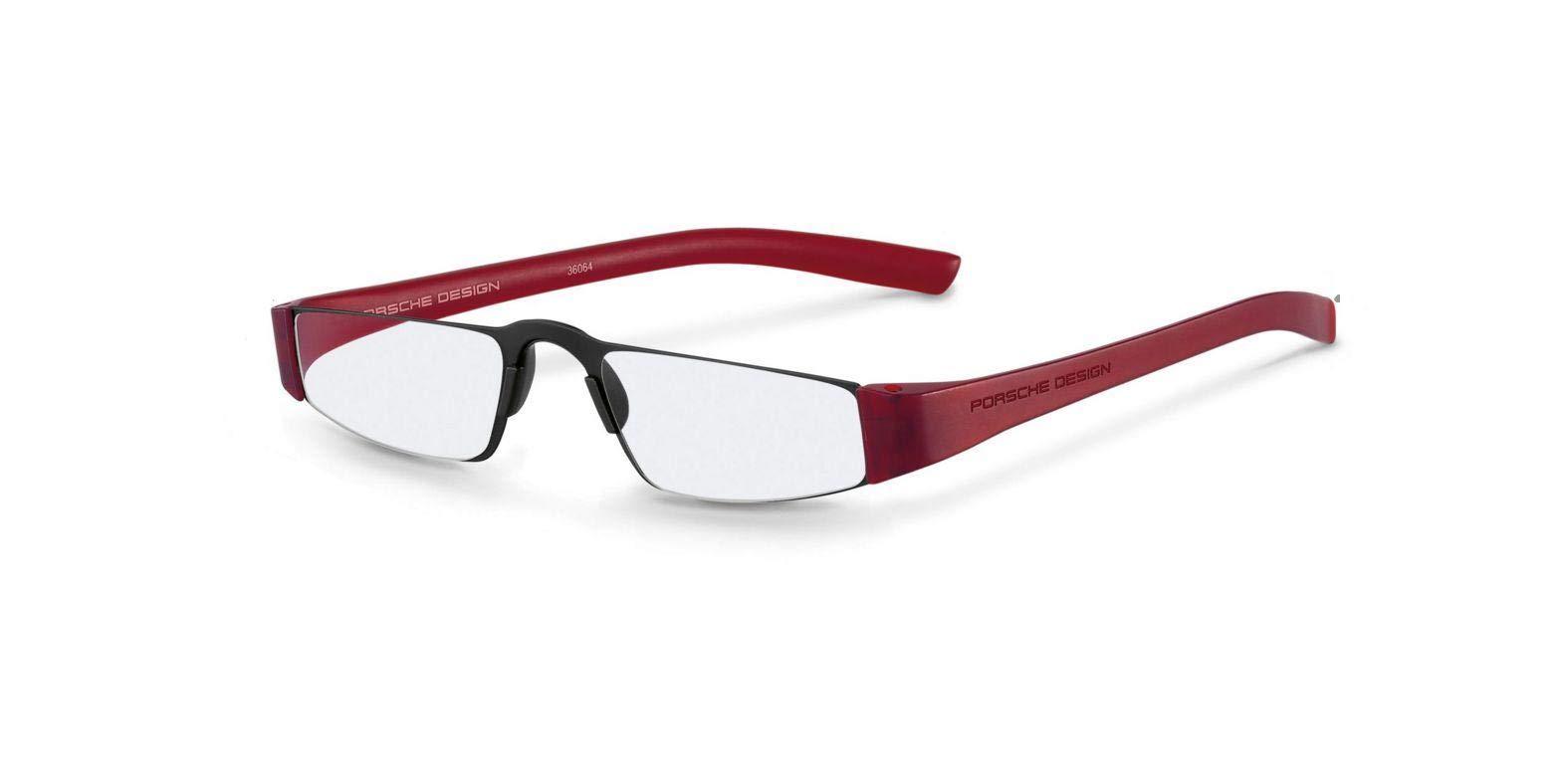 Authentic Porsche Design P 8801 B Black,Red +2.00 Reading Glasses