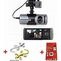 M2CBridge Dash Cam 2.7 LCD HD Dual Cam Car DVR Black Box w/ GPS Tracker + G-Sensor + 32GB