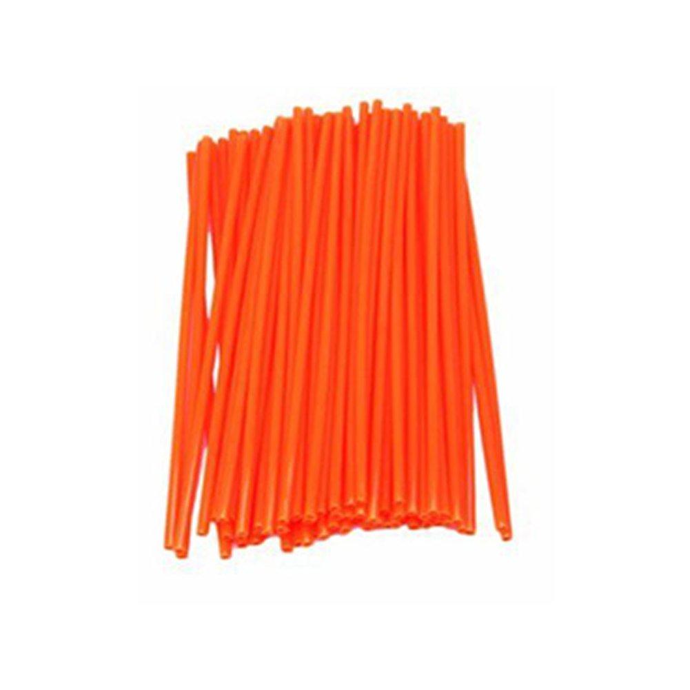 Confezione da 72 Pezzi fsttm88 Yedaf Kit di Protezione per Raggi di Motocross Arancione Orange Moto da Cross