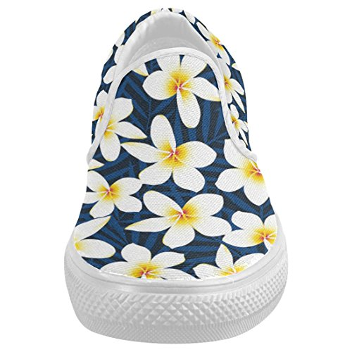 81acac43ed3726 InterestPrint Hawaiian Floral Casual Slip-on Canvas Women s Fashion Sneakers  Shoes new