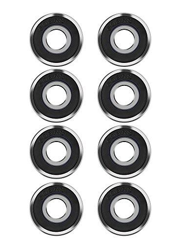8 Pack 608 2RS Bearings Skateboard Bearings Longboard Bearings for Toy,...