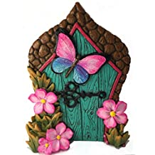 Miniature Butterfly Fairy Door for the Enchanted Garden Fairies and Gnomes. A Fairy and Lawn Gnome Garden Accessory
