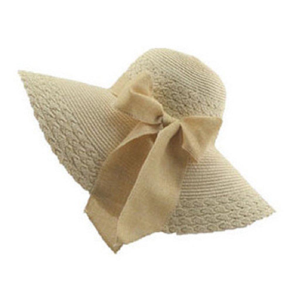 Moollyfox Sombreros de Paja de Sol Elegancia Playa Gorra Para Mujer Ala Ancha Sombrero de Verano Bei...