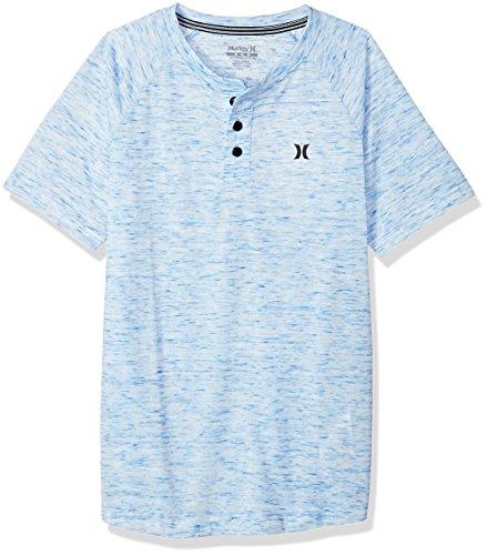 Hurley Boys' Little Henley T-Shirt, White/Fountain, 6 - Hurley Kids Shirt