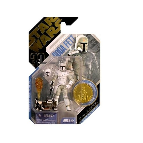 Hasbro 87240 2O-K0MW-6DMG Coin color will vary Star Wars 30th Anniversary McQuarrie Concept BOBA FETT Action Figure with Plastic Coin #15